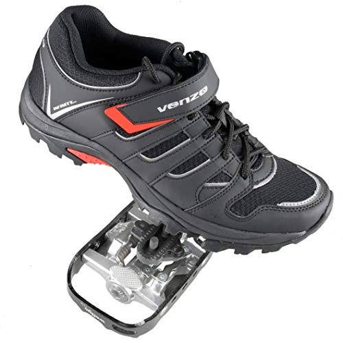 Venzo Mountain Bike Bicycle Cycling Shimano SPD Shoes + Pedals & Cleats 44 Review