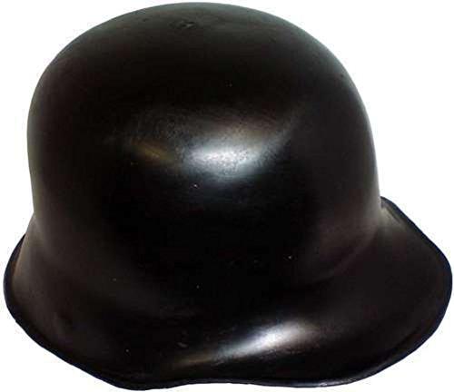 [Mememall Fashion WWII German Soldier Costume Helmet - Black Molded Plastic] (German Officer Hat Costume)