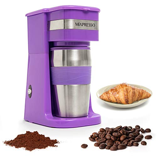 Ultimate 2-In-1 Single Cup Coffee Maker & 14oz Travel Mug Combo | Portable & Lightweight Personal Drip Coffee Brewer…