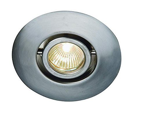 Juno Lighting 440-SC 4-Inch Flush Gimbal Ring Recessed Trim, Satin Chrome by Juno ()