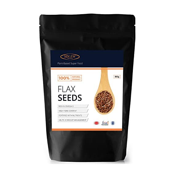 Sinew Nutrition Flax Seeds For Eating-Rich Fibre and Omega-3 - 800gm