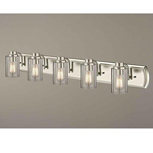Industrial Seeded Glass Bathroom Light Bronze 4 -