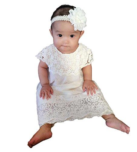 Crochet Christening Gown (Topmaker Baby Baptism Dress,Crochet Lace Dress (2T))