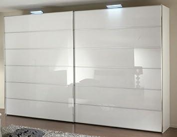 Schlafzimmer Schrank Paros Glas Weiss Breite 278 Cm