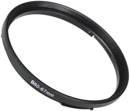 Anodized Black Metal Filter Adapter Ring Fotodiox Bayonet 50 B50-58mm Step Up Filter Adapter Ring for Hasselblad