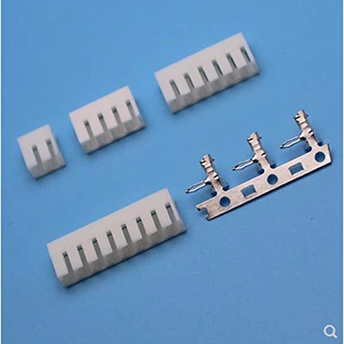 Gimax 5set 2.5mm space pitch plug-in connector 2p3p4p6p9p10pins terminal JC-25 90 degrees terminal - (Pins: 11P 5sets)