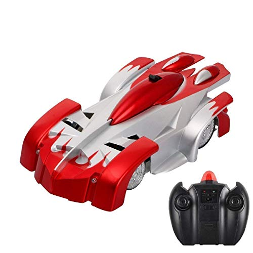 KINGBOT Rc Cars for Kids Remote Control Car Toys Dual Mode 360° Rotating Stunt Rc Car High Speed Vehicle with LED Lights Rechargeable Battery Best Gift for Boys Girls of Age 3-16 Years Old Red ()