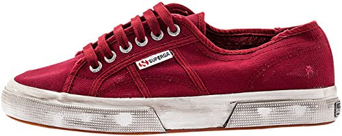 Superga 2750 Cotu Stone Wash, Chaussons Sneaker Adulte Mixte RED DK SCARLET