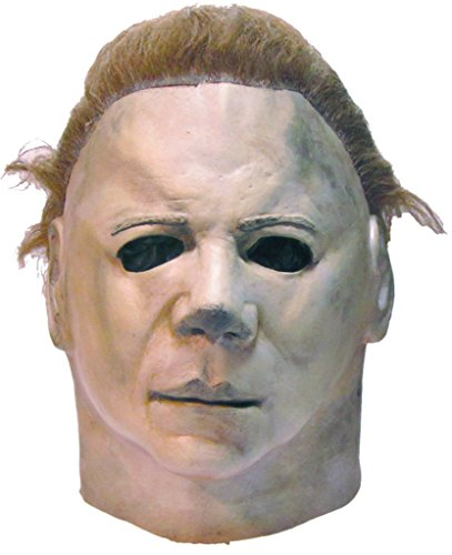 [Halloween 2 Michael Myers Horror Latex Adult Halloween Costume Mask] (Halloween Costumes For 4 People)