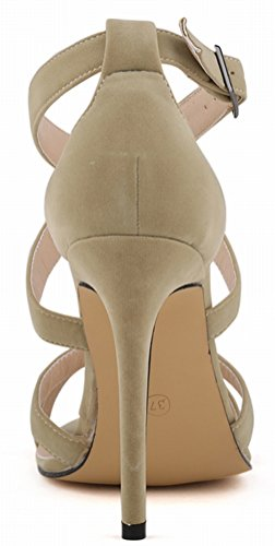 Salabobo - Zapatos con tacón mujer Beige