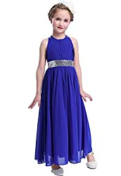 Girls Sequins Chiffon Dress