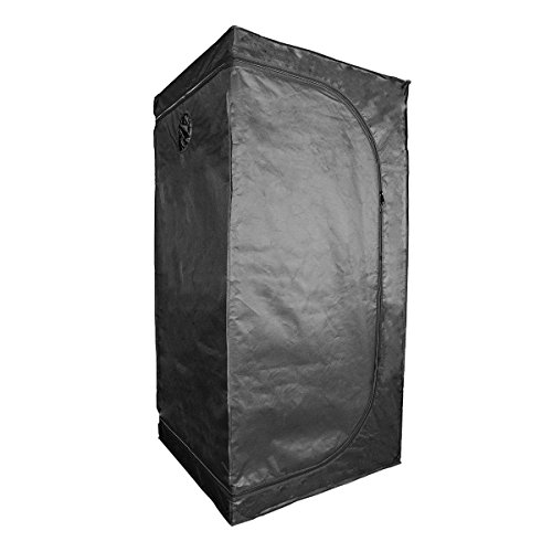 Growtent Garden Grow Tent for Indoor Plant Growing 32''x32''63'' 600D with Removable Floor Tray… by Growtent Garden