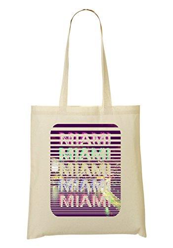 Miami Florida Series | Colorful Night Bolso De Mano Bolsa De La Compra