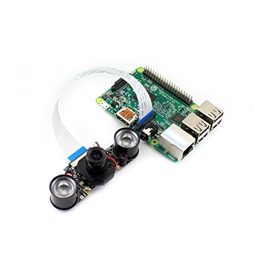 Waveshare Newest Raspberry Pi IR-CUT Camera Module Kit 5MP OV5647 Sensor  Supports Night Vision Embedded IR-CUT Better Image in Both Day and Night  for