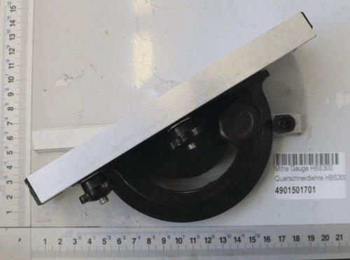 Scheppach 4901501701 Bandsä ge Zubehö r/Querschneidlehre, passend fü r die HBS300, Verstellbereich von-60 bis + 60 Grad