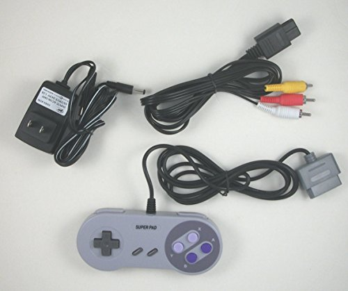 Video Game Accessories US SELLER Super NES SNES Hookup Kit AC Adapter Power Cord AV Cable - Sites Us Coupon