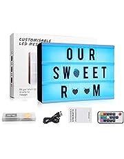 LED Cinema Box, Cinematic Light Box con 120 Lettere Numeri e Simboli Alimentata a Tramite USB Festa di Compleanno, Partito e di Compleanno, Tag da Ufficio