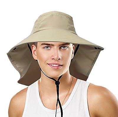 Sun Blocker Unisex Large Bill Neck Flap Hat Sun Protection Camping Hiking Hunting Fishing Cap