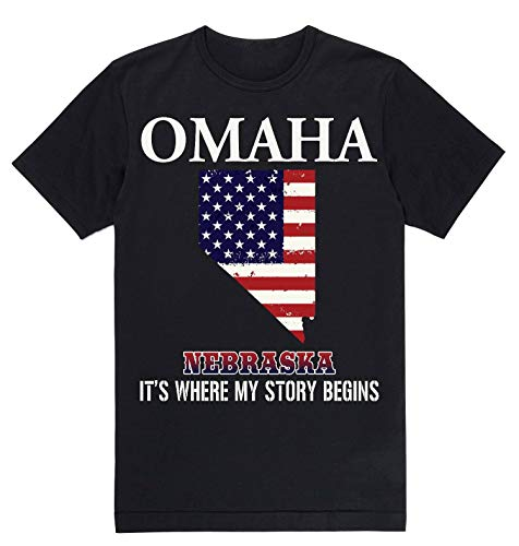 Lovely Decorations Independence Day Shirt - Omaha Nebraska NE It's Where My Story Begins Black