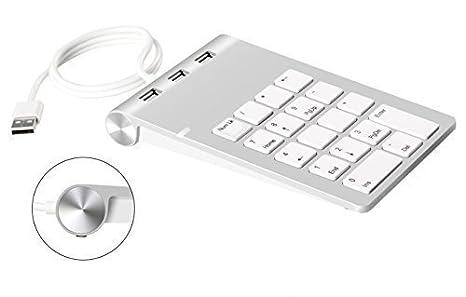 Amazon Com Cateck Aluminum Finish Usb Numeric Keypad With Usb Hub