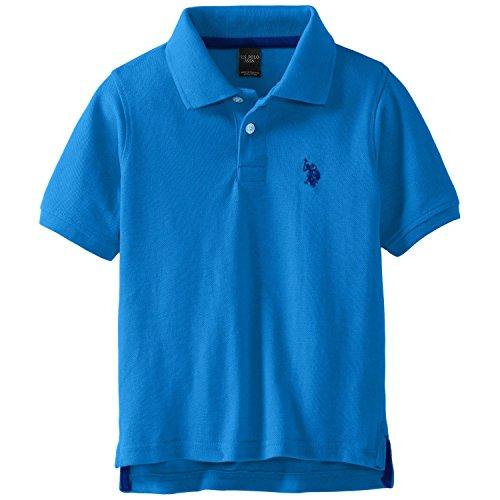 U.S. Polo Assn. Big Boys' Classic Polo Shirt, Teal Blue, 10/12