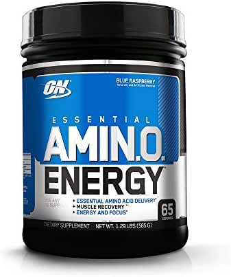 OPTIMUM NUTRITION ESSENTIAL AMINO ENERGY with Green Tea and Green Coffee Extract, Flavor: Blue Raspberry, 65 Servings