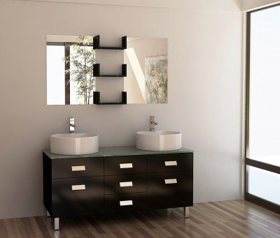 Wellington 48 Double Sink Bathroom Vanity Set Vanities With Extraordinary Bathroom Vanity Double