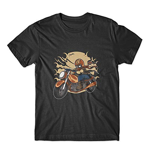 (Wild Biker T-Shirt 100% Cotton Premium Tee New Black (XXL))