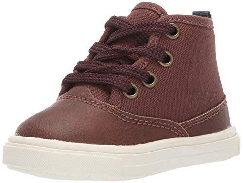 Brown Boys Sneakers - Carter's Denzel Boy's Casual High-Top Sneaker, Brown 6 M US Toddler