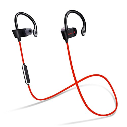 GBSELL Wireless Bluetooth Headset Sport Sweatproof Stereo Headphone Earphone For iPhone Samsung (Red)