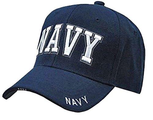 US Navy Veteran Baseball Cap Vet Embroidered Blue Mens One Size (Navy Blue NAVY Hat 3D (State Seal Ball Cap)