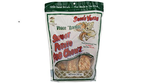 Front Porch Pets Sweet Potato Dog Chewz - 6 Pack - Value Pack Veggie Rawhide
