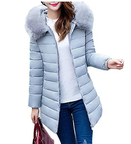 Lunghe Caldo Sicurezza Giacca Zip Inverno Maniche Outwear Di Spesso Gery Donne nROpxp