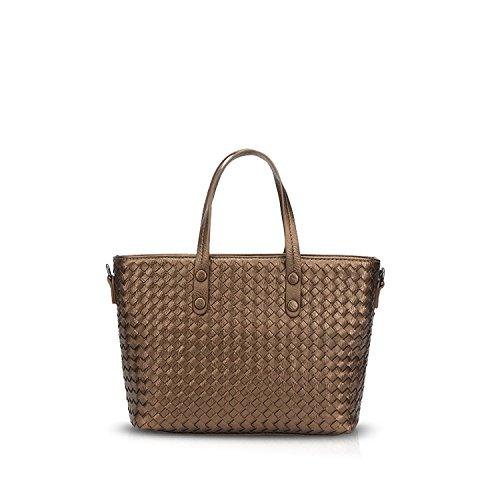 NICOLE&DORIS Tote Handbag Crossbody Shoulder Bag Women Messenger Large Purse PU Leather Copper