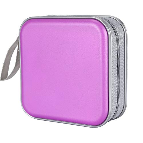 Siveit CD Case, 40 Capacity CD DVD Heavy Duty Wallet Storage Organizer Holder VCD Binder Bag Album Booklet - Cd 40 Dvd