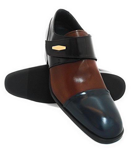 cms Plus Taille Zerimar augmentent 7 Réhaussantes Qui Chaussures pour Marron Chaussures Homme Bordeaux des Votre Bleu qpwIYp7