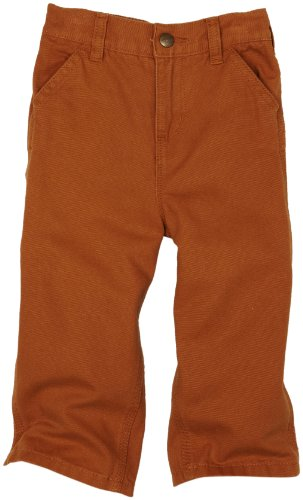 Carhartt Baby Boys' Washed Duck Dungaree, Brown, 12 (Carhartt Kids Washed Duck)