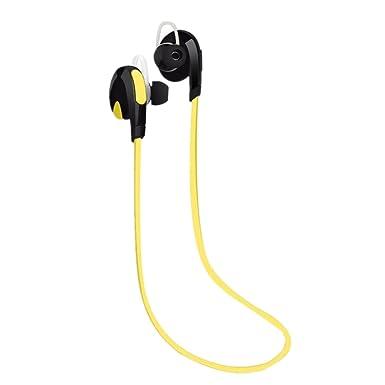 Tefamore Auricular Estéreo Inalámbrico Bluetooth Para Auriculares De Deporte Universal (amarillo): Amazon.es: Ropa y accesorios