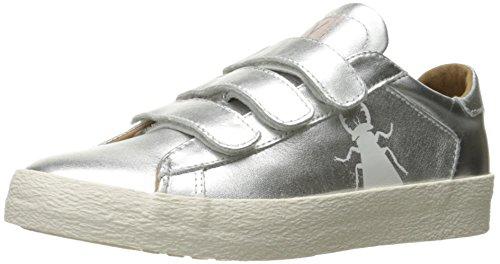FLY London Women's Bire824fly Fashion Sneaker, Silver/Metallic, 38 EU/7.5-8 M US