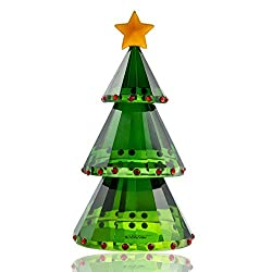 Green Crystal Glass Christmas Tree