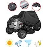 Saking Riding Lawn Mower Cover, Waterproof Windproof Anti-UV All-Weather Protection Outdoor Tractor Cover (55 x 26 x 36 inch)