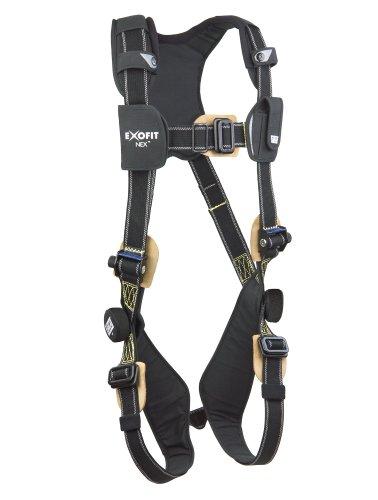 - 3M DBI-SALA ExoFit NEX 1113338 Full Body Arc Flash Harness, PVC Coated Alum Back D-Ring, Nomex/Kevlar Web, PVC Coated Pass-Thru Buckle Leg Straps, X-Large, Black