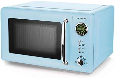 Blue 700 Watt forno a microonde 20 litri Piatto girevole Retro Design Emerio MW-112141.2 Blu Baby forno a microonde azzurro