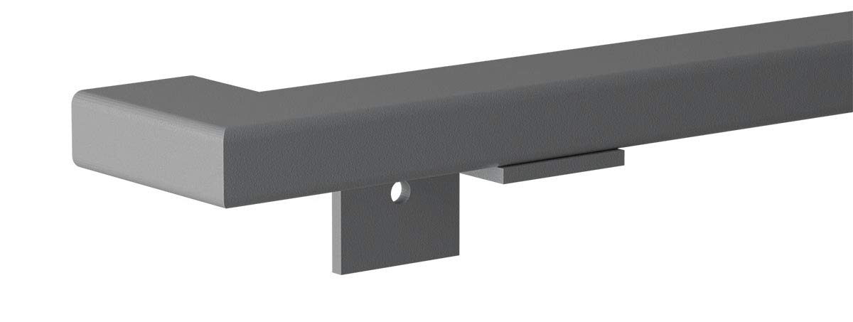 HOLZBRINK Main Courante d/'Escalier en M/étal Blanc Signalisation Courbe de 90/° 100 cm Rectangulaire HLH-05-100-9016 Profil Carr/é 40x40 mm