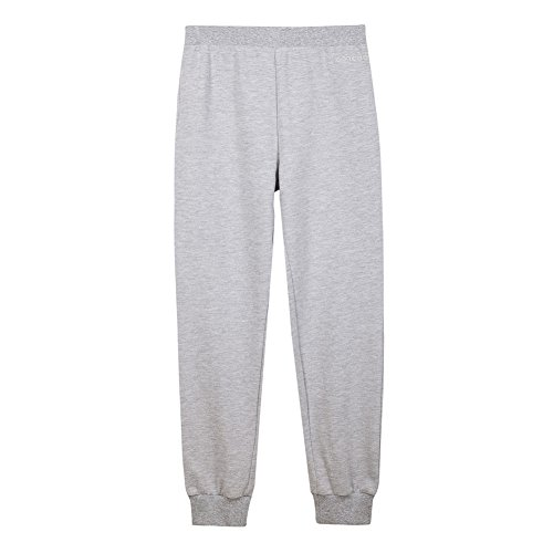 Pants French Terry Girls - UNACOO Girls Soft French Terry Pull-on Jogger Pants with 2 Pockets (Grey, m(7-8T))