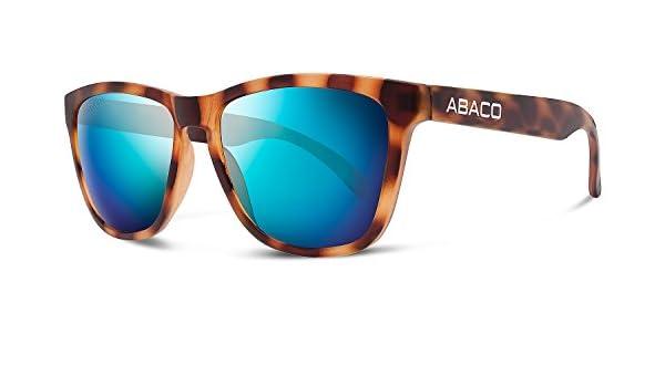 851e48e11cb Abaco Kai Sunglasses Rubber Tortoise Frame Polarized Ocean Mirror Lenses