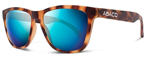 Abaco Kai Sunglasses Rubber Tortoise Frame Polarized Ocean Mirror - Tortoise Rubber