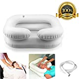 RAYTOO Inflatable Hair Washing Tray, It Can Be Inflated And Deflated, Easy To Carry For The Head In Bed