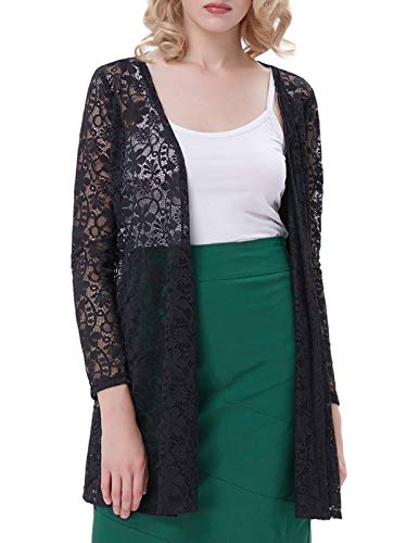 Womens Blazers and Jackets Open Front Summer(S Black 421-1)