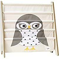 3 Sprouts Book Rack, Owl/Gray